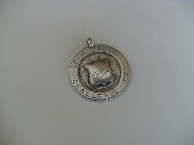 Solid Silver Albert Chain Fob Medal Birmingham 1924