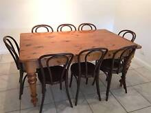 Murray Pine Table and Bentwood Chairs Lavington Albury Area Preview