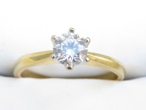 Valuation$2825 Genuine 0.41ct Diamond Ring 18K Yellow Gold Marsden Logan Area Preview