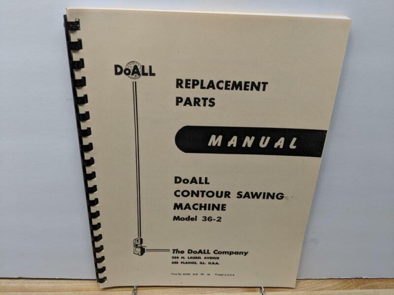 DoAll 36-2 Contour Sawing Machine Parts Manual