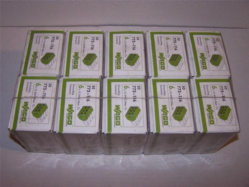 WAGO 773-116 6 X 12 AWG MAX. GROUNDING CONNECTOR NEW IN BOX LOT OF 50
