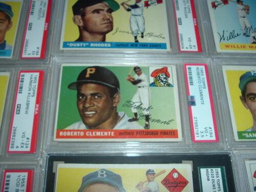 1955 Topps Gum Complete Set Clemente Koufax Williams Aaron Killebrew Jackie Psa