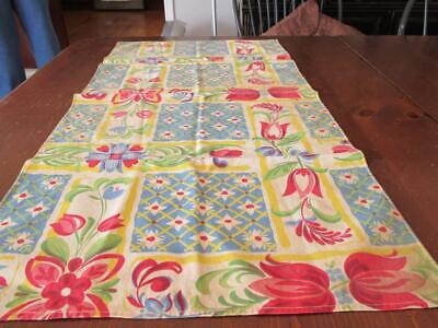 """Vintage~Tulip Table Runner and Place Mat~16 3/4"""" x 33"""""""
