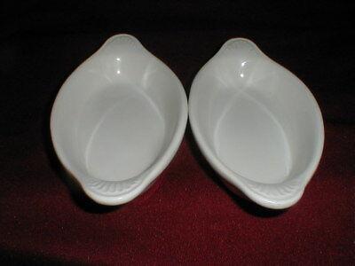 2 Diversified Ceramics Restaurant Ware Dc627 White 8 Oz Welsh Rarebit Dishes Two