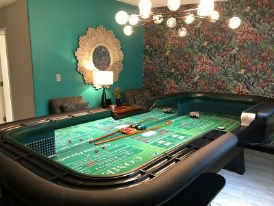 Professional Casino Style Breakdown 12' Craps Table. Custom made to order! - Casino Style