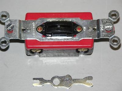 Hubbell Hbl1222l Locking Toggle Switch 2-pole 120-277 Volt Ac 20 Amp Black