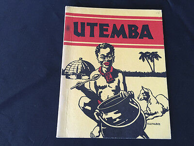 Black Americana First Edition Utemba 1936 31 pg Booklet Book Burgess Ellingboe