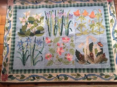 Claire Murray Rug Retired Rare Vintage Hand Hooked 100 Wool 46 x 61