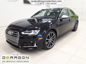 2018 Audi S4 NEUF TECHNIK NAV 354HP CAMERA 360 NEUF TECHNIK NAV