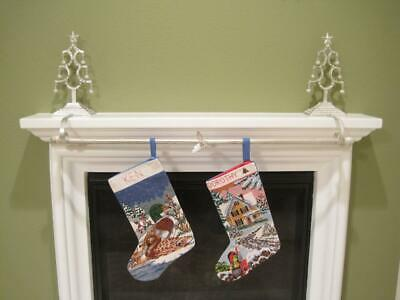 Metal Christmas Tree Stocking Holder with 44