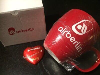 Air Berlin XL Kaffeetasse Kaffeepot Kaffeebecher rot NEU und OVP