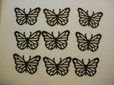 Black Card Stock (Black Butterflies Card Stock Die Cut/ Punch Outs Fiskars set of 9 Free)