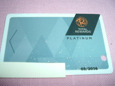 Caesars Entertainment Total Rewards Platinum Players Club Slot Card Vegas