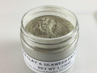 - SEAWEED & SEA CLAY FACE MASK w/French Green Clay- Detox Rejuvenate Organic