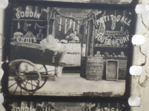 """1913 French Original Silent Film """"Mysterious Sausage"""" Strip Cell 28mm Pathe Kok"""