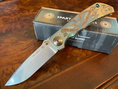 Spartan Blades Knife Harsey Folder S45VN 2021 Special Edition God & Country