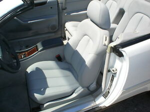 Mercedes leather seat covers clk320 clk430 1998 2003 for Seat covers mercedes benz