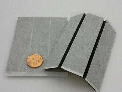 6 x oversize 6mm number plate double sided sticky pad - thick weatherproof pads