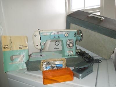 Mega Rare Macy's Deluxe Zig Zag Supre-Macy 139 Heavy Duty Sewing Machine Japan