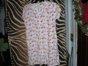 PINK FLAMINGO SOFT SHORT SLEEVE SUMMER ROBE, PAJAMA, POOL TOP S,M,L,XL,1X,2X,3X