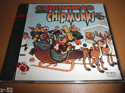 CHRISTMAS with the CHIPMUNKS alvin CD All I Want For X-mas SILVER BELLS white  ()