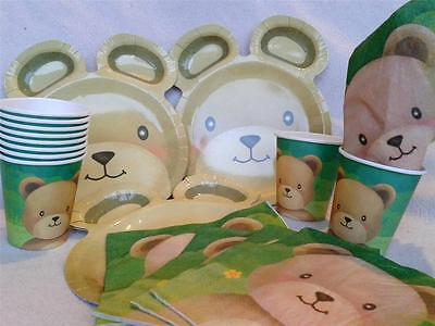 BLEWARE PARTY SUPPLIES choose NAPKINS,CUPS,PLATES,BOWLS (Teddy Bear Party Supplies)