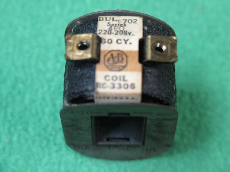 A-B ALLEN BRADLEY RC-3308 COIL 220/208V 60 Hz 4PO 702 MAGNETIC MOTOR CONTROL