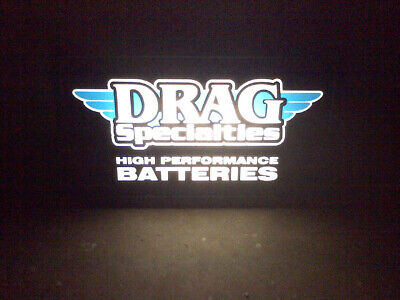 Drag Specialties Lighted Shop Sign 22x12 Motorcycle shop garage light