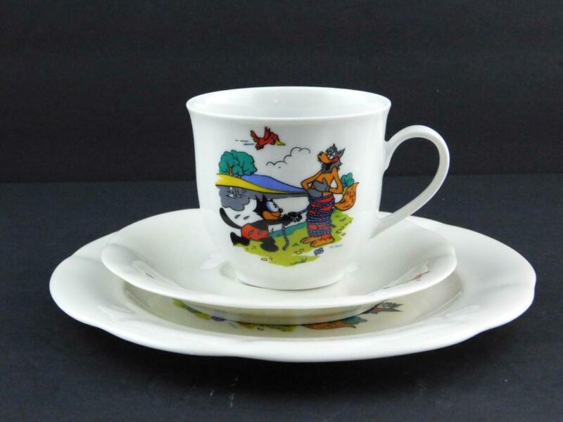 Winterling Germany Felix the Cat Teacup Saucer Childs Plate Tied Wolf A++ COND