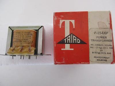 Triad Power Transformer F-154xp Sec 27 Or 54 V Ct .140 .280 A Primary 115vac Pc