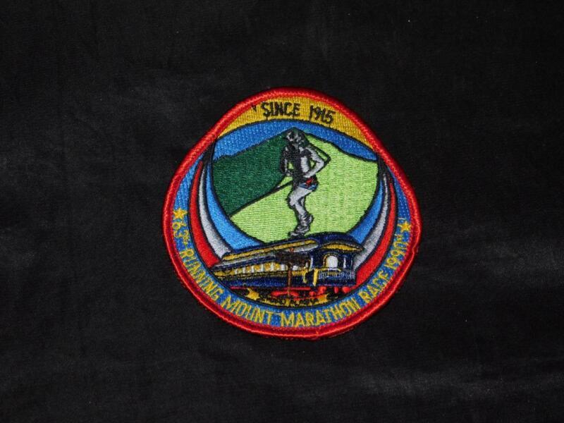 1990 Mount Marathon Race Patch Seward Alaska Mountain 63rd Running Embroidered