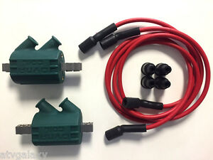 Dynatek Dyna Ignition Coils 3 ohm Dual Output DC1-1 Red 7mm Wires DW-300
