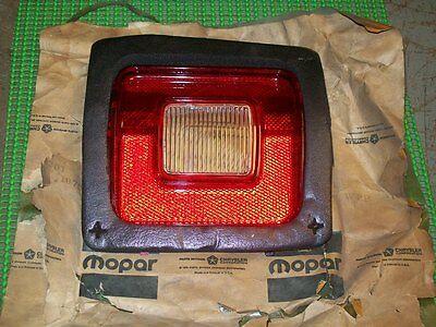 1973 74 75 76 Dodge Dart Sport NOS MoPar Left BACK UP TAIL LAMP LENS #3798201