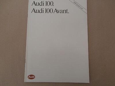 1988 AUDI 100 Brochure Avant .Quattro, 2.2E.  Collectors condition
