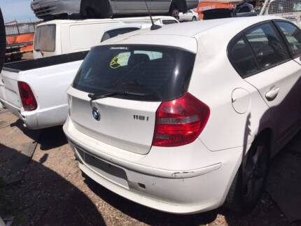 Wrecking a BMW 118i for Parts