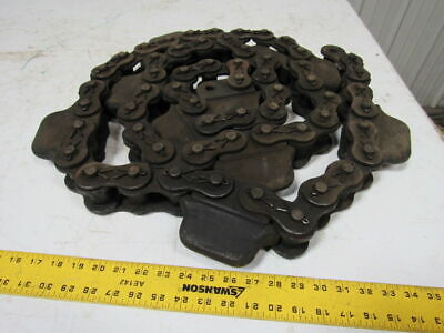 Pulton # 160 Cottered Conveyor Roller Chain w/Dogs Attachment 10ft
