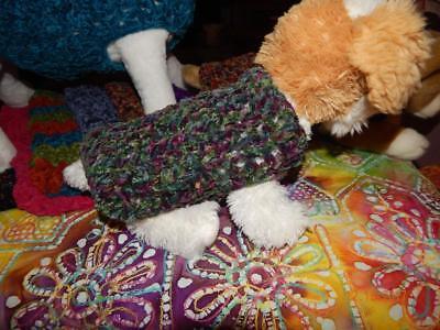 XXXS Dog Apparel WATERLILY Lion Suede Plush Puppy Sweater