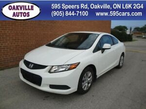 2012 Honda Civic LX/NO ACCIDENTS/ONE OWNER/BLUETOOTH/