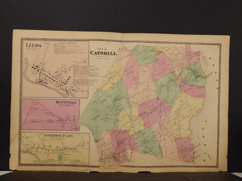 New York, Greene County Map, 1867, Catskill, Double Page, Y4#05