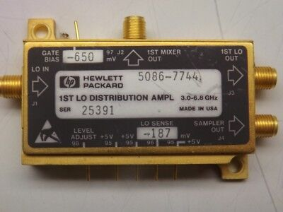 Hp Agilent 5086-7744 1st Loda Distribution Amplifier Yto Yig Oscillator 6.8 Ghz