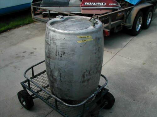 Vintage 56 gallon Standard oil drum