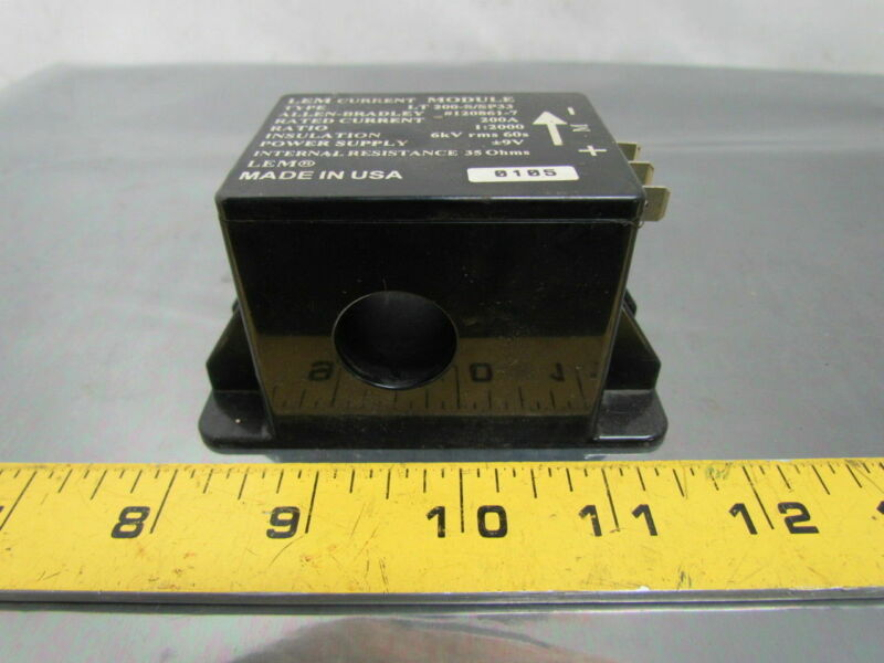 Allen Bradley LT 200-S/SP33 LEM Current Transducer Module 1:2000 Ratio 200 Amp