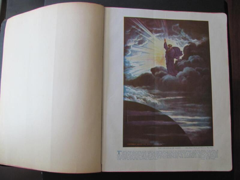 LARGE 1942 Hertel Masonic Edition bible Red Letter Pictorial Cyclopedic Indexed