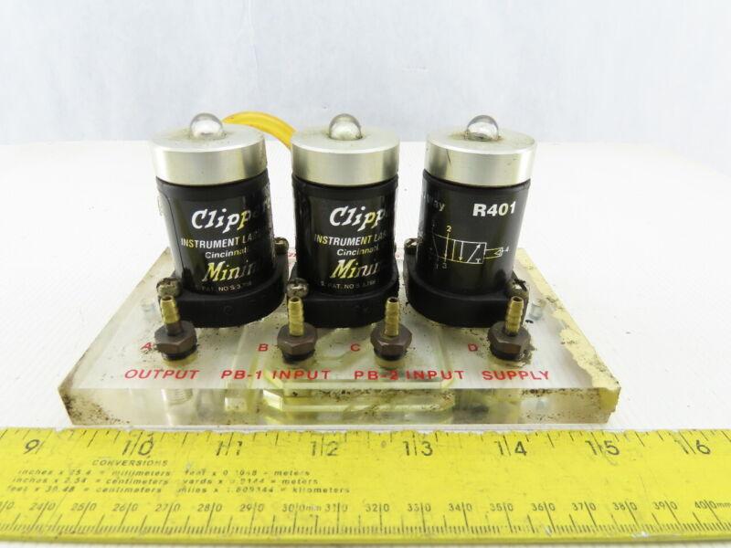 Clippard CM-023 Minimatic 2 Hand No Tiedown Pneumatic Circuit Manifold