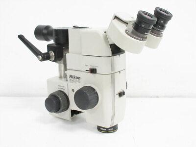 Nikon Smz-u Zoom 110 Microscope 2x Uw10xa24 Ed Plan 0.75x 1.25x Head Ergo-tilt