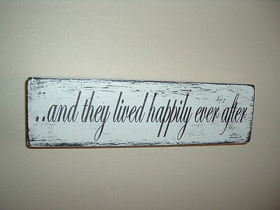 shabby, mod n chic plaque and they lived happily ever after plaque sign weddings