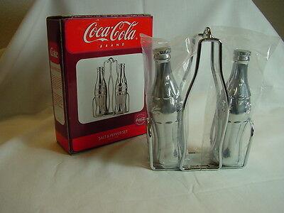 Coca Cola Salz- & Pfefferstreuer, Menage, Salt & Pepper Set, massiv Chrom