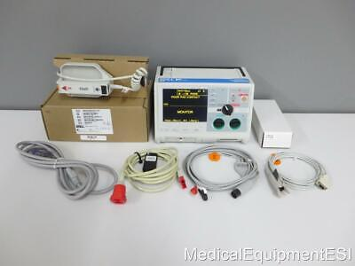 Zoll M Series Biphasic 3 Lead Spo2 Aed Als Pacing New Paddles Patient Monitor