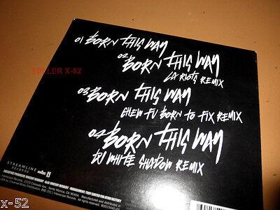LADY GAGA Ep BORN This WAY 4 Track SINGLE Cd DJ White Shadow Chew Fu  - $10.99