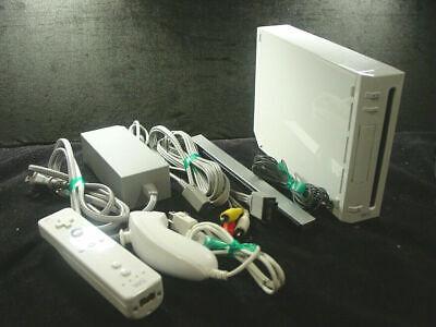 Nintendo Wii Gamecube RVL-001 White Console System Bundle Remote Nunchuk IR NICE